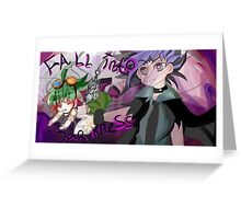 FALL INTO DARKNESS Greeting Card