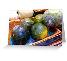 Ripe and Luscious Melons Greeting Card