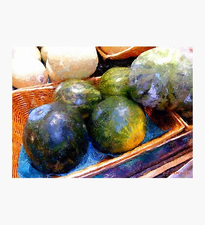 Ripe and Luscious Melons Photographic Print