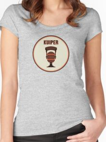 SF Giants Announcer Duane Kuiper Pin Women's Fitted Scoop T-Shirt