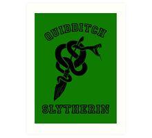 Slytherin Quidditch - Varsity style Art Print