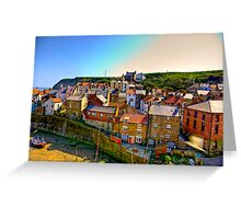 Staithes Fishing Village. Greeting Card