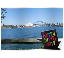 Happy Birthday from Sydney Poster