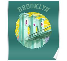 Happy Brooklyn Bridge Poster