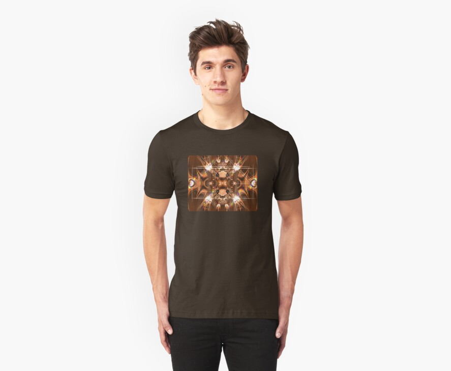 Temple Of Light Guards- Fractal Tshirt by judygal