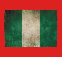 Old and Worn Distressed Vintage Flag of Nigeria Kids Clothes
