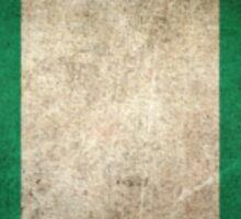 Old and Worn Distressed Vintage Flag of Nigeria Sticker