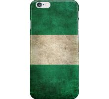 Old and Worn Distressed Vintage Flag of Nigeria iPhone Case/Skin