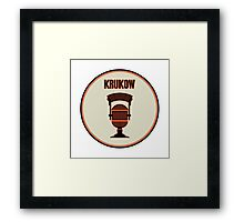 SF Giants Announcer Mike Krukow Pin Framed Print