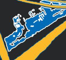 Golden State Warriors Stencil Team Colors Black Sticker