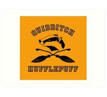 Hufflepuff Quidditch - Varsity style Art Print
