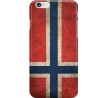 Old and Worn Distressed Vintage Flag of Norway iPhone Case/Skin