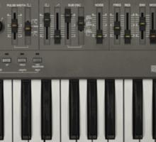 Roland SH-101 Analog Synthesizer Sticker