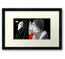 First kiss. Framed Print
