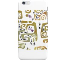 Hand drawn print with ants iPhone Case/Skin