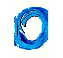 Pure Water 312 - Blue Abstract Art By Sharon Cummings Art Print