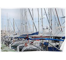 Riggings and masts. Poster
