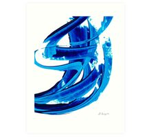 Pure Water 304 - Blue Abstract Art By Sharon Cummings Art Print