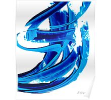 Pure Water 304 - Blue Abstract Art By Sharon Cummings Poster