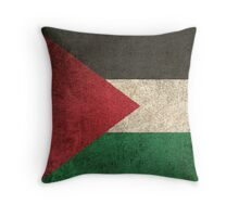 Old and Worn Distressed Vintage Flag of Palestine Throw Pillow