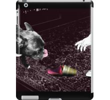 The frenchie will win.. iPad Case/Skin
