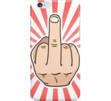 Middle finger iPhone Case/Skin