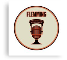 SF Giants Announcer Dave Flemming Pin Canvas Print
