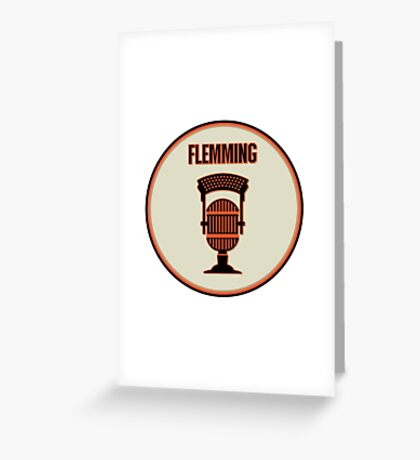SF Giants Announcer Dave Flemming Pin Greeting Card