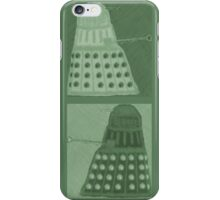 Daleks in negatives - green iPhone Case/Skin