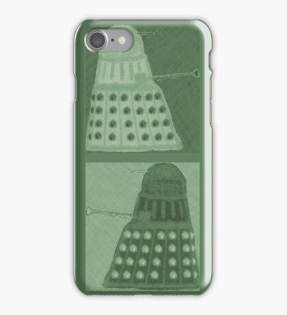 Daleks in negatives - green iPhone Case/Skin