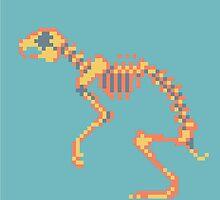 Rabbit Pixel Skeleton by Maxine Penders