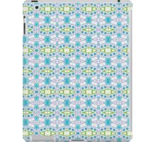 Blue, Green and White Abstract Design Pattern iPad Case/Skin