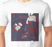Pattern with funny cows Unisex T-Shirt