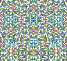 Green, Pink and Blue Abstract Design Pattern by Mercury McCutcheon