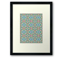 Green, Pink and Blue Abstract Design Pattern Framed Print
