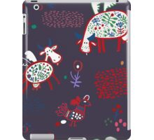 Pattern with funny cows iPad Case/Skin