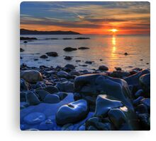 Maughold beach - photography Canvas Print