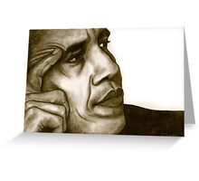 Barack Obama 1262 views Greeting Card