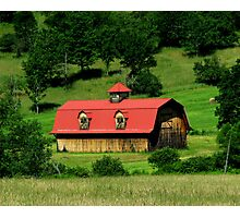 The Barn on the hillside Photographic Print