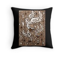 (Sepia) Wings of Desire Throw Pillow