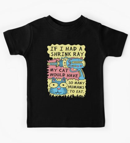 Shrink Ray Cat Kids Tee