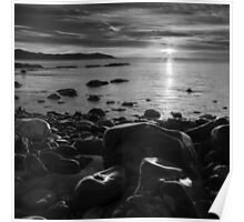 Maughold beach sunrise - photography Poster