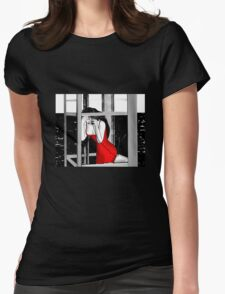 Help me, please! Womens Fitted T-Shirt