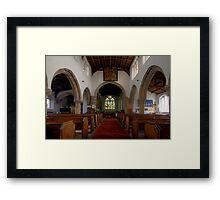 Inside All Saints Misterton Framed Print