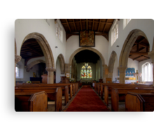 Inside All Saints Misterton Canvas Print