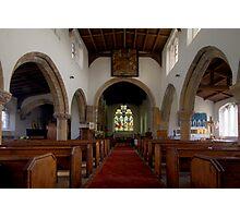 Inside All Saints Misterton Photographic Print