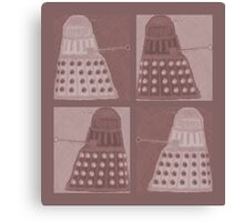 Daleks in negatives - brown Canvas Print