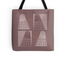 Daleks in negatives - brown Tote Bag