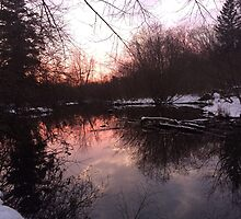 Serene Winter Sunset  by ashleyschneider