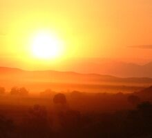 Sunset near Oudtshoorn by IngridSonja